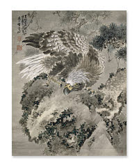 Gan Tai, <i>Eagle and a Monkey</i>, a hanging scroll