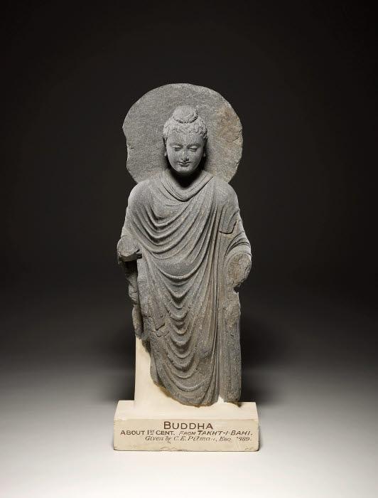 The Buddha Figure Kushan Gandhara Takht I Bahi The British Museum Images