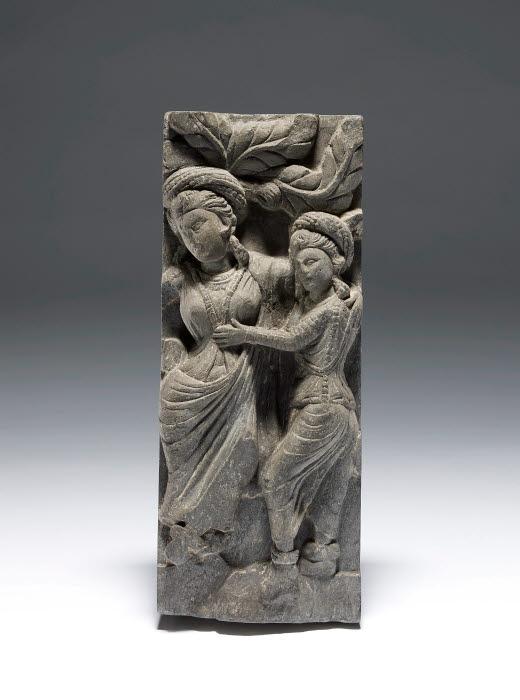 The Birth Of The Buddha Panel Kushan Gandhara Pakistan The British Museum Images