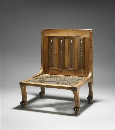 Captivating Egyptian Acacia Wood Chair