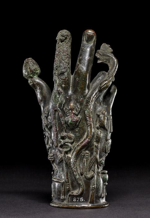 Bronze hand used in the worship of Sabazius, Roman | The British Museum  Images