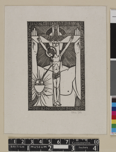 The trinity with chalice, 1914, Eric Gill