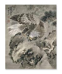 Gan Tai, <i>Eagle and a Monkey</i>, a hanging scroll